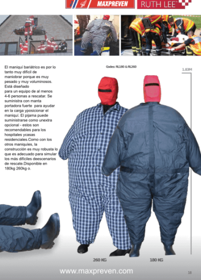 2 modelos de maniqui obeso